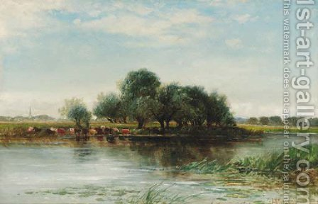 On the Ouse by Edmund Morison Wimperis - Reproduction Oil Painting