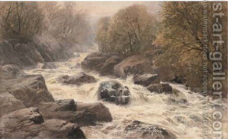 A Welsh torrent by Edmund Morison Wimperis - Reproduction Oil Painting
