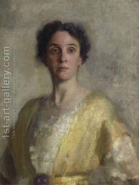 Lady in Yellow (Mrs. Codman) by Edmund Charles Tarbell - Reproduction Oil Painting
