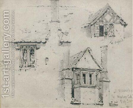 Studies of medieval windows in Oxford by Edmund Thomas Parris - Reproduction Oil Painting