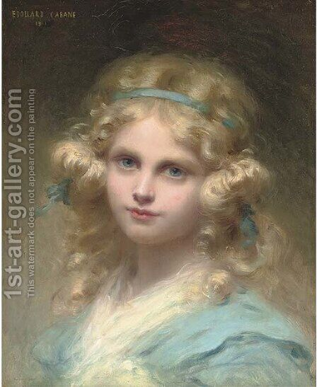 Tete Blonde by Edouard Cabane - Reproduction Oil Painting