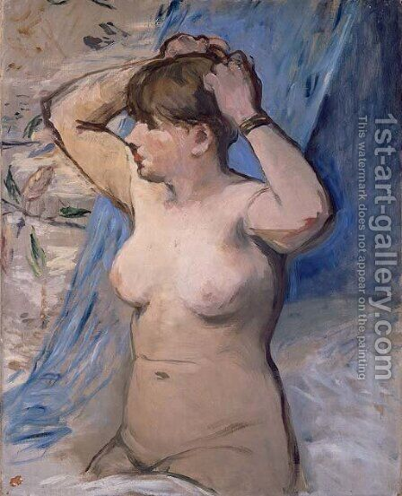 Femme nue se coiffant by Edouard Manet - Reproduction Oil Painting