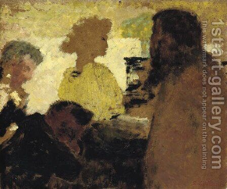 Au piano by Edouard  (Jean-Edouard) Vuillard - Reproduction Oil Painting