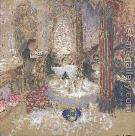 Au restaurant by Edouard  (Jean-Edouard) Vuillard - Reproduction Oil Painting