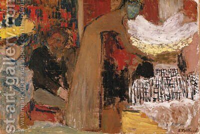 Au spectacle by Edouard  (Jean-Edouard) Vuillard - Reproduction Oil Painting