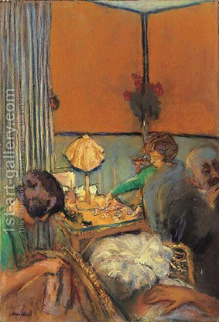 Le salon by Edouard  (Jean-Edouard) Vuillard - Reproduction Oil Painting