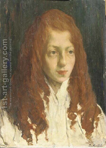 A jewish girl by Eduard Frankfort - Reproduction Oil Painting