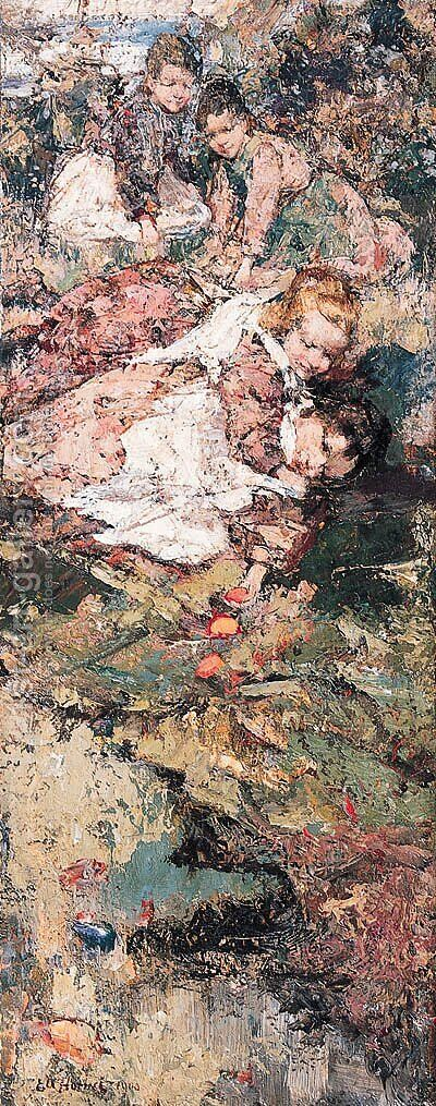 Eastertime by Edward Atkinson Hornel - Reproduction Oil Painting