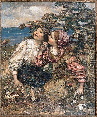 The Sound of the Lark by Edward Atkinson Hornel - Reproduction Oil Painting