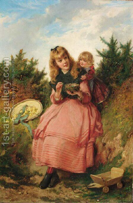 The Bird's Nest by Edward Charles Barnes - Reproduction Oil Painting
