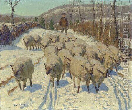 Banning's Sheep by Edward Charles Volkert - Reproduction Oil Painting