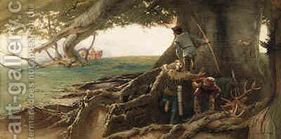 The Ambush by Edward Frederick Brewtnall - Reproduction Oil Painting