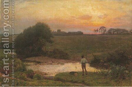 The final cast of the day by Edward Frederick Brewtnall - Reproduction Oil Painting