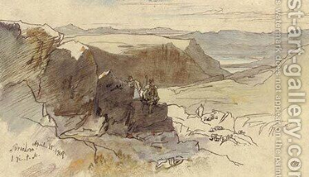 Arachova, Greece by Edward Lear - Reproduction Oil Painting