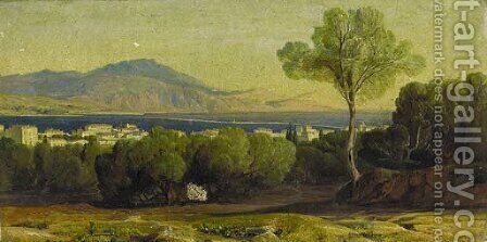 Argostoli and the Black Mountain, Cephalonia by Edward Lear - Reproduction Oil Painting