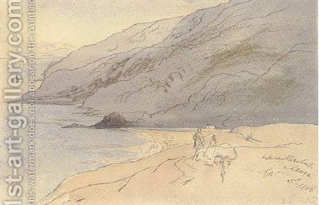 Between Karahalli and Laura, Turkey by Edward Lear - Reproduction Oil Painting