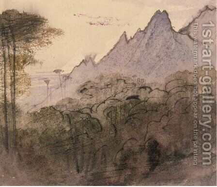 Views of Bavella by Edward Lear - Reproduction Oil Painting