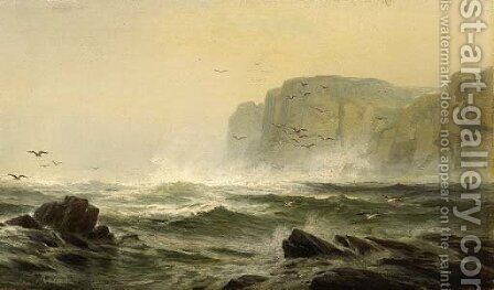 Coastal Seascape by Edward Moran - Reproduction Oil Painting