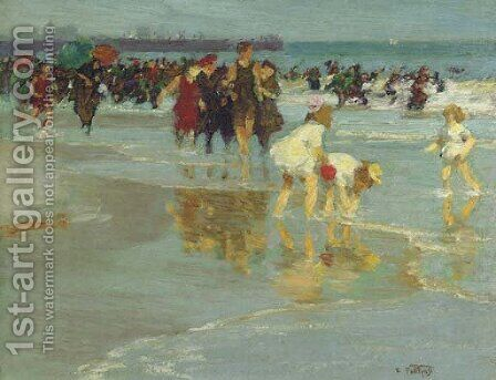 Bathers 2 by Edward Henry Potthast - Reproduction Oil Painting