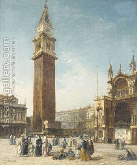 St. Mark's Square, Venice by Edward Prichett - Reproduction Oil Painting