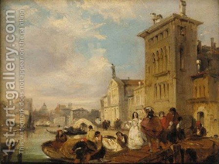 The Grand Canal, Venice by Edward Pritchett - Reproduction Oil Painting