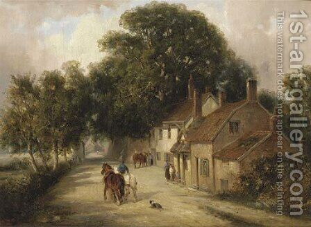 The Cherry Tree Inn, Woodbridge by Edward Robert Smythe - Reproduction Oil Painting