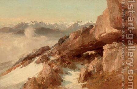 White mountain tops by Edward Theodore Compton - Reproduction Oil Painting