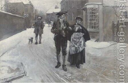 A stroll around London by Edwin Austin Abbey - Reproduction Oil Painting