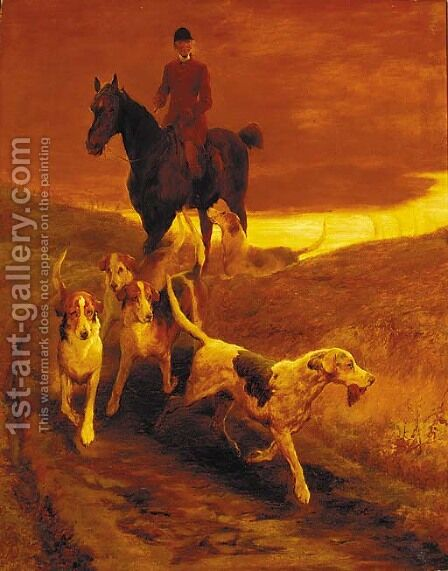 Mr James Pigg and Mr Jorrock's Hounds by Edwin Douglas - Reproduction Oil Painting