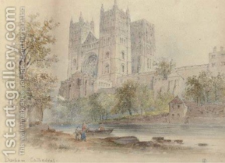 Durham Cathedral by Edwin Thomas Dolby - Reproduction Oil Painting