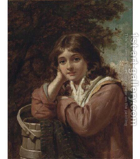 The milkmaid by Edwin Thomas Roberts - Reproduction Oil Painting