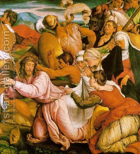 Christ Bearing The Cross To Calvary by Andrea Bonaiuti da Da Firenze - Reproduction Oil Painting