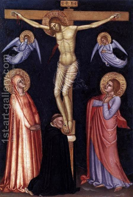 Crucifixion  1370 by Andrea Bonaiuti da Da Firenze - Reproduction Oil Painting