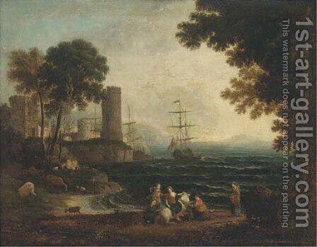 Europa and the Bull by (after) Claude Lorrain - Reproduction Oil Painting