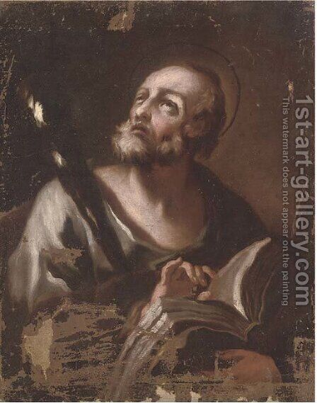 Saint Jerome in his Study by (after) Luca Giordano - Reproduction Oil Painting