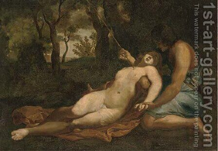 Cephalus and Procris by (after) Abraham Bloemaert - Reproduction Oil Painting