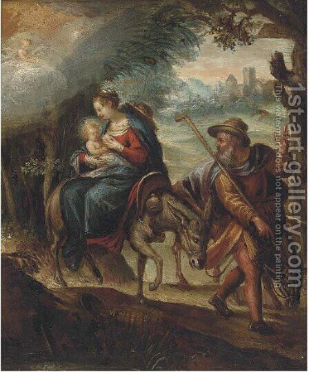 The Flight into Egypt 2 by (after) Adam Elsheimer - Reproduction Oil Painting