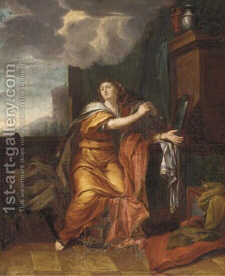 An Allegory of Vanity by (after) Adriaen Van Der Werff - Reproduction Oil Painting