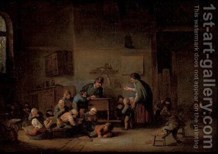 A school room interior by (after) Adriaen Jansz. Van Ostade - Reproduction Oil Painting