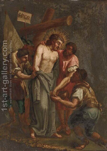 The Mocking of Christ by (after) Alessandro Turchi (Orbetto - Reproduction Oil Painting
