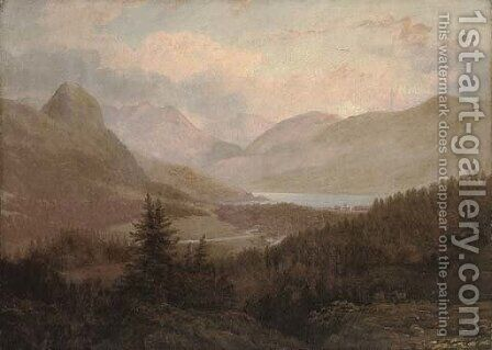 A view towards Inverary Castle by (after) Alexander Nasmyth - Reproduction Oil Painting
