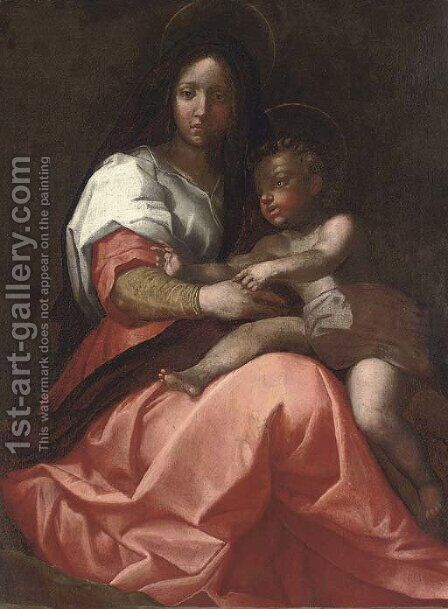 The Madonna and Child by (after) Andrea Del Sarto - Reproduction Oil Painting