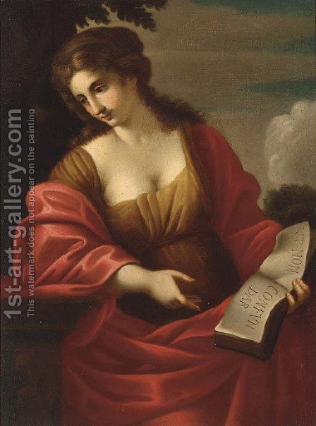 A sibyl by (after) Angelica Kaufmann - Reproduction Oil Painting