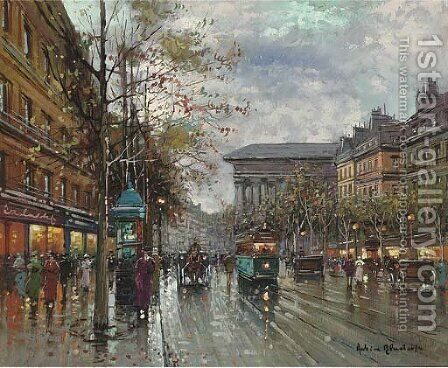 La Madeleine, Paris by (after) Antoine Blanchard - Reproduction Oil Painting