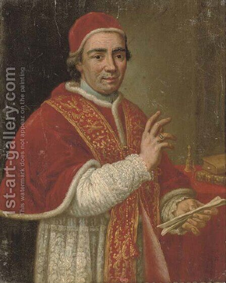 Portrait of a cardinal by (after) Mengs, Anton Raphael - Reproduction Oil Painting