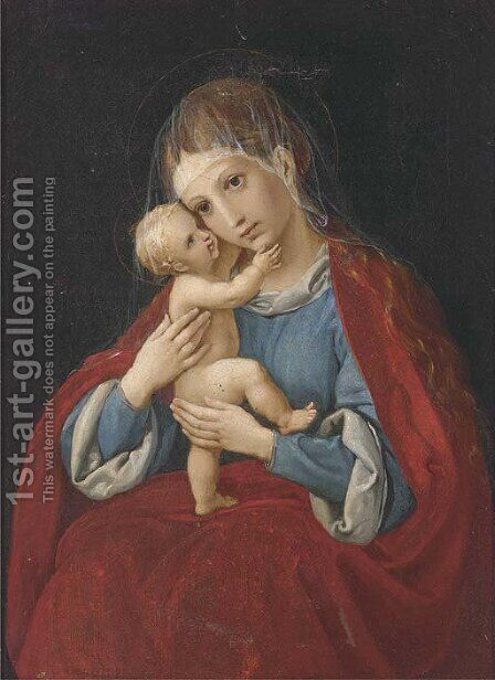 The Madonna and Child by (after) Mengs, Anton Raphael - Reproduction Oil Painting