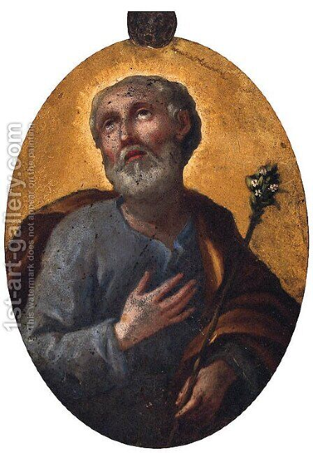 Saint Joseph by (after) Antonio Allegri, Called Correggio - Reproduction Oil Painting