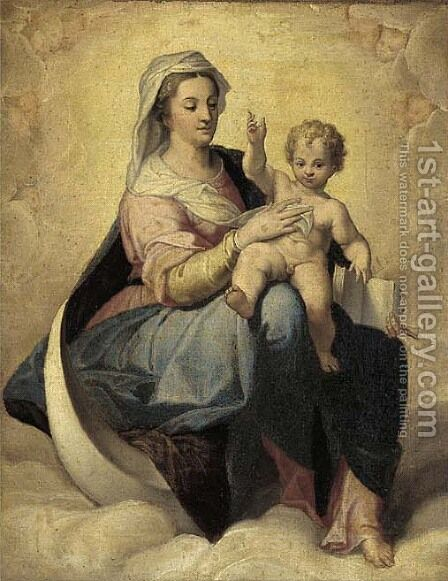 The Virgin and Child by (after) Antonio Allegri, Called Correggio - Reproduction Oil Painting