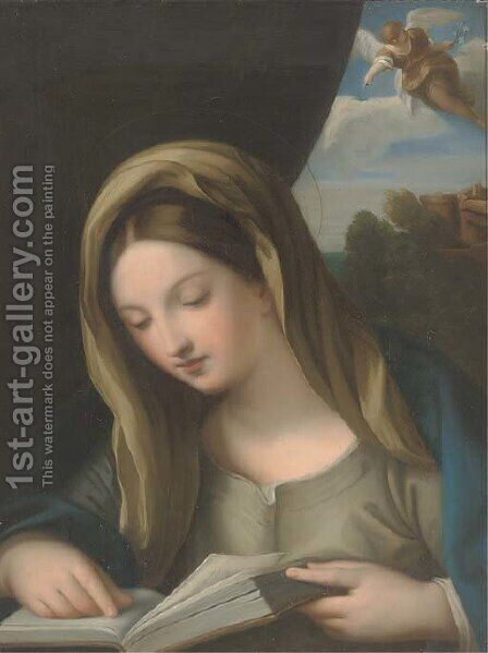 The Annunciation by (after) Correggio, (Antonio Allegri) - Reproduction Oil Painting