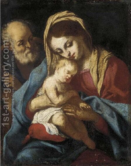 The Holy Family 2 by (after) Correggio, (Antonio Allegri) - Reproduction Oil Painting